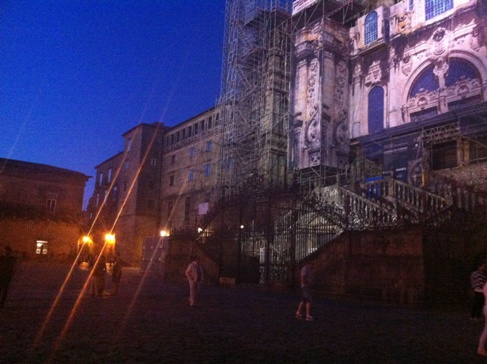 A katedrális esti fényben, Santiago de Compostela