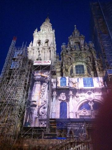 A kivilágított katedrális, Santiago de Compostela