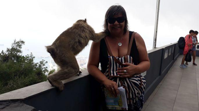 Andalúz körút, Gibraltár, szikla, majom és Erika :-)