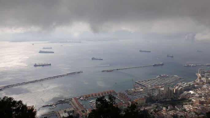 Andalúz körút, Gibraltár, szikla, kilátás