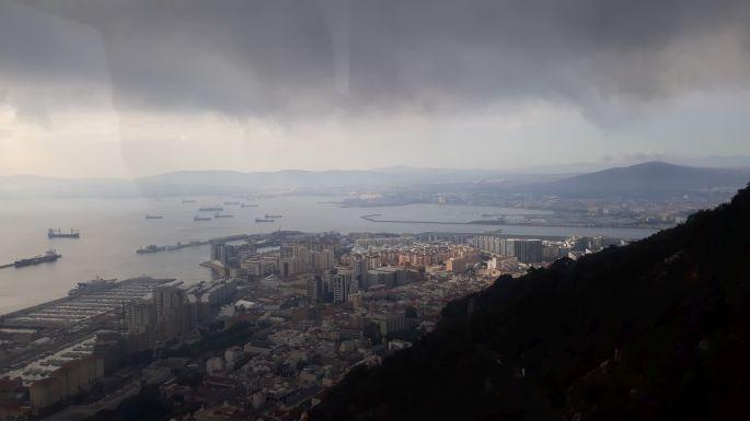 Andalúz körút, Gibraltár, kilátás a felvonóról