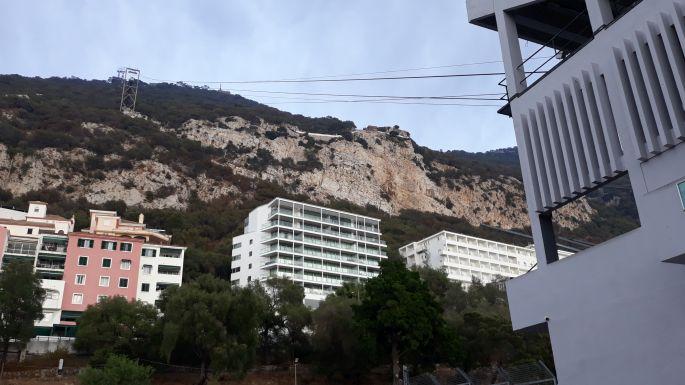 Andalúz körút, Gibraltár, a felvonó alsó állomása