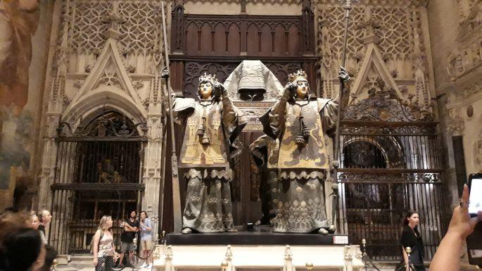 Andalúz körutazás, Sevilla, a katedrális, Kolumbusz Kristóf sírhelye