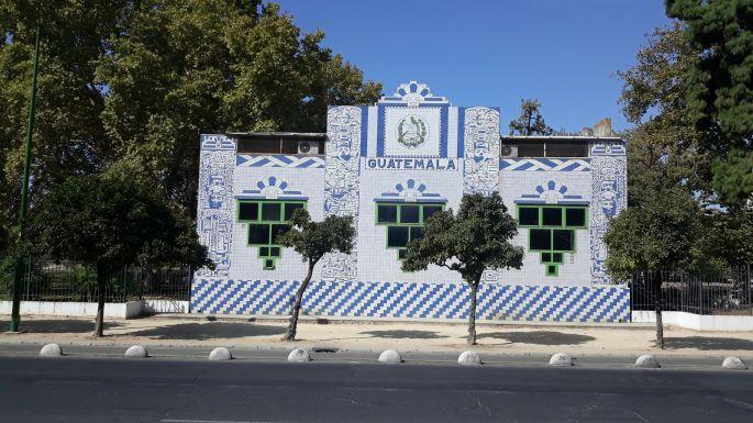Andalúz körutazás, Sevilla, a tánciskola Guatemala pavilonja