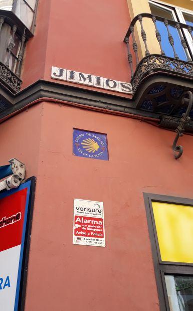 Andalúz körutazás, Sevilla, El Camino jel a Via de la Plata úthoz
