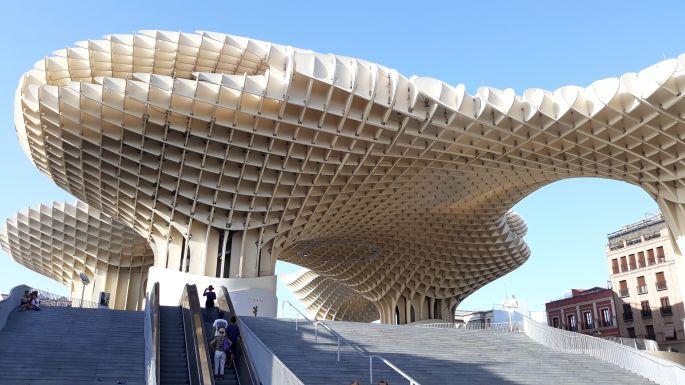 Andalúz körutazás, Sevilla, a Metropol Parasol kilátó vagyis a gomba