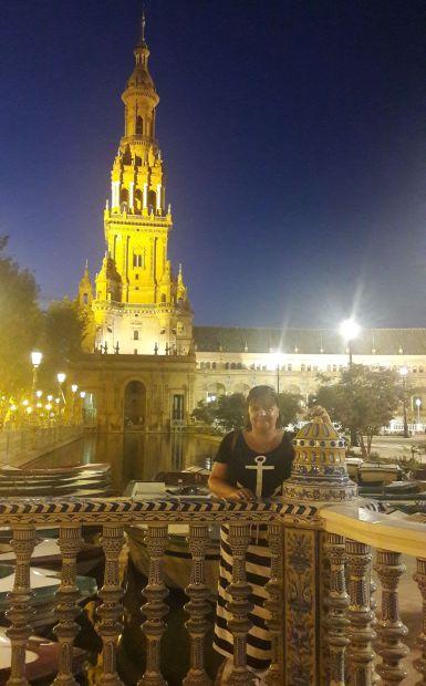 Andalúz körutazás, Sevilla, az ikonikus Plaza de Espana tér és egy Erika :-)