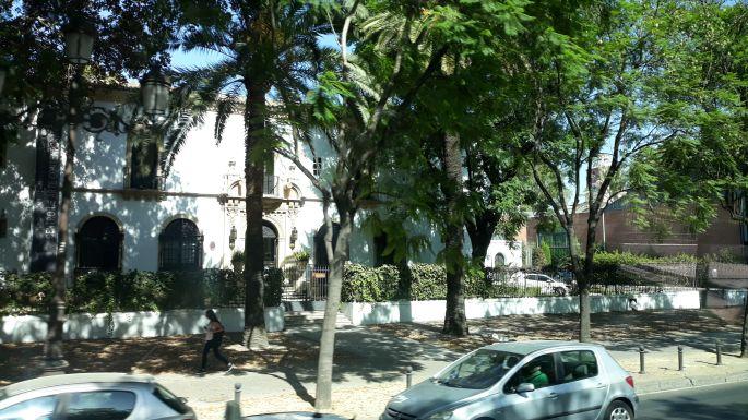 Andalúz körutazás, Sevilla, pálmafákkal szegélyezett sugárút