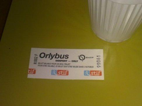 El Camino Parizs Orlybus jegy.jpg