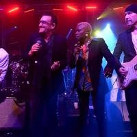 A U2 tagjai Nile Rodgers és a Chic kíséretében (megChris Martinnal) zenéltek