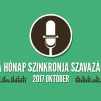 A hónap szinkronja szavazás: 2017. október
