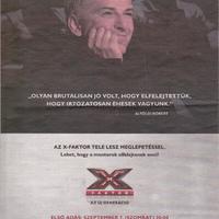 X-faktor-plakát: Alföldi Róbert