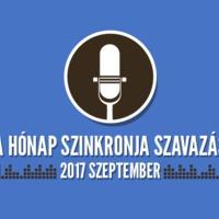 A hónap szinkronja szavazás: 2017. szeptember