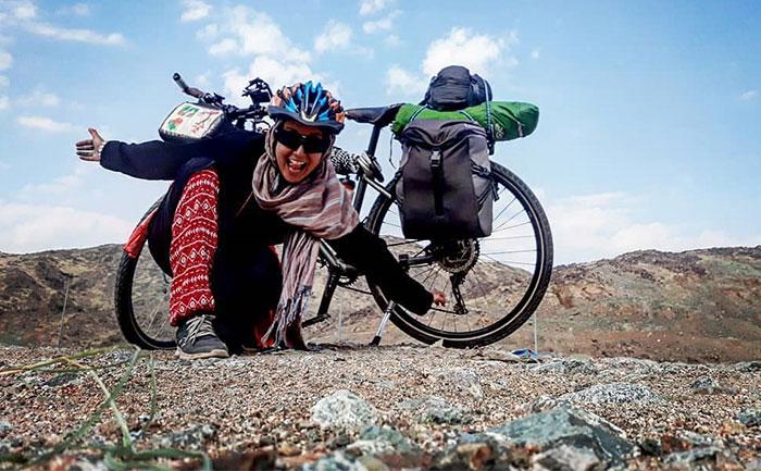 Az első nő, aki biciklivel zarándokolt Mekkába