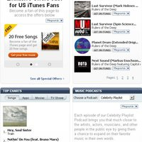 Facebook connect az iTunes-on