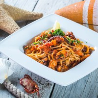 Spagetti Marinara (tenger gyümölcsei spagetti)