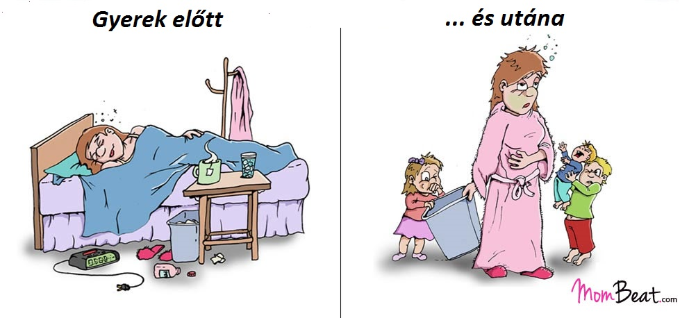 Az élet gyerek előtt és utána - 10 pontban, telitalálat illusztrációkkal