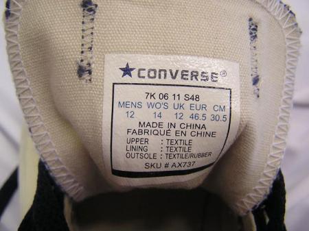 Hamis converse tornacipők! - Átverések interneten 5f67871661