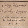 Haynik Géza hadifogoly naplója