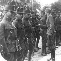 Tisztavatás a Ludovikán 1917. augusztus 17-én