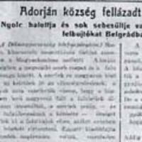 Az 1919-es adorjáni véres események