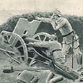 """""""A német tüzérség az orosz erődöt, Ossowiczot lövi"""""""