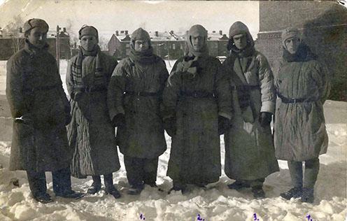 Orosz hadifogságba esett katonák