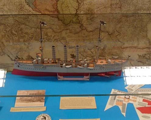 Az Emden német könnyűcirkáló rekonstrukciója