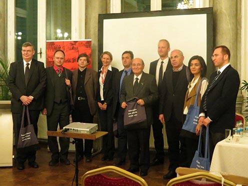 Osztrák, magyar és török résztvevők a konferencián