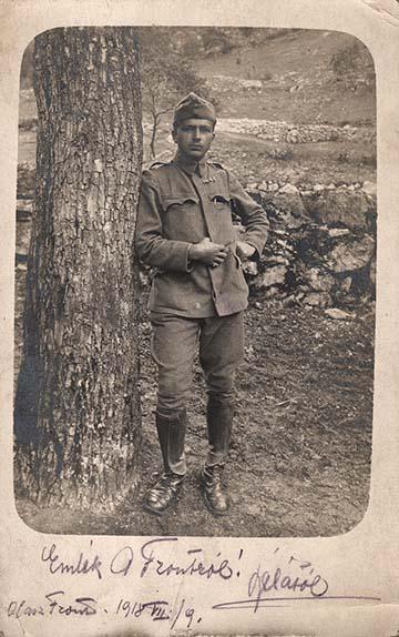 """""""Emlék a frontról! Bélától. Olasz front. 1918. VII/9."""""""
