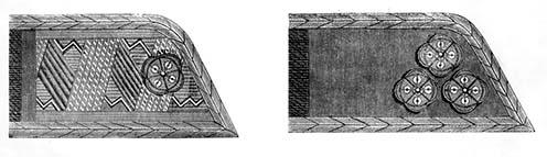 Az 1891-ben rendszeresített rendfokozati jelzések: VIII. és IX. fizetési osztály