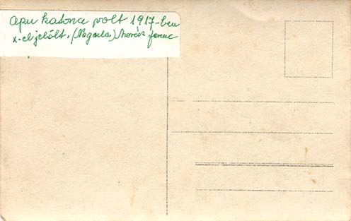 Apu katona volt 1917-ben