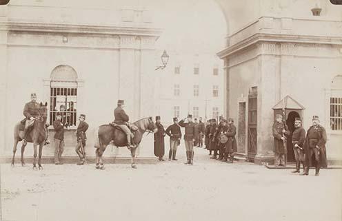 2. Gyalogsági laktanya bejárata