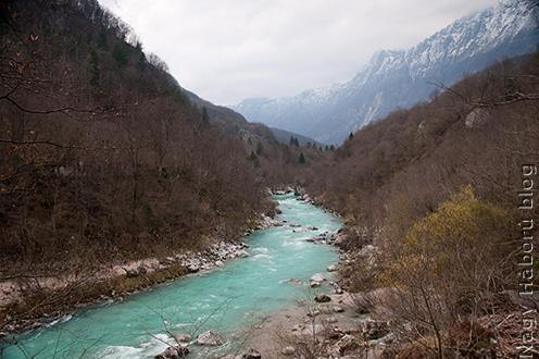 Az Isonzó-völgy látképe