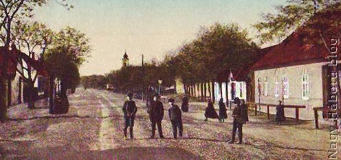 Adony község egyik utcája az 1910-es években