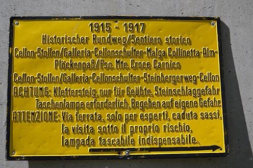 Történelmi út a Cellonra, az osztrák oldalon