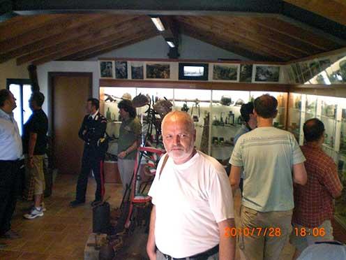 San Martino del Carsóban olasz barátaink első világháborús múzeumában