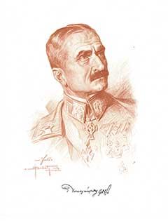 Tersztyánszky Károly Oskar Bruch által 1916-ban készített portréja