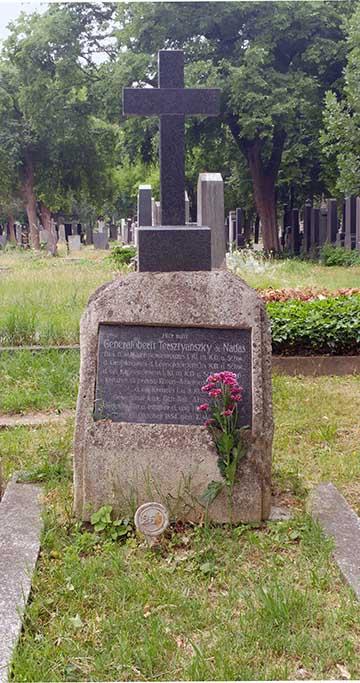 Tersztyánszky Károly sírja 2018-ban