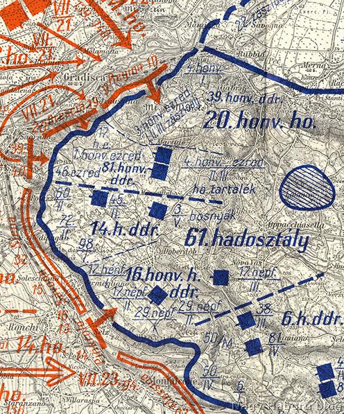Harctéri helyzet a Doberdó-fennsíkon a 2. isonzói csata kezdetén