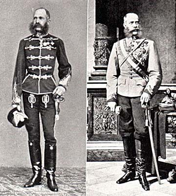 Ferenc József, mint huszár- és ulánus ezredtulajdonos