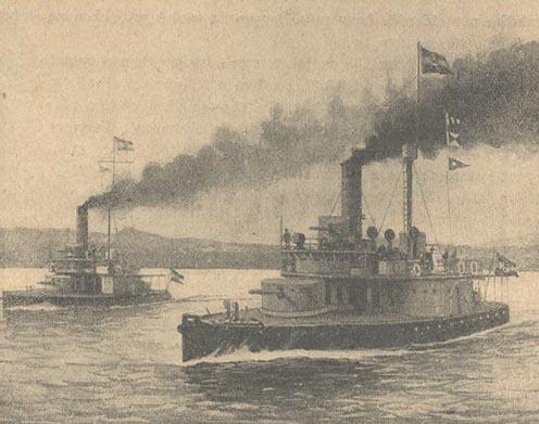 A Maros és a Leitha monitorok a Száván