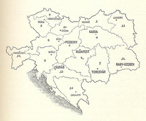 Az Osztrák–Magyar Monarchia hadtestjeinek kiegészítő kerületei