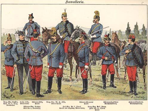 Osztrák–magyar lovasság 1898-ban egy képeslapon