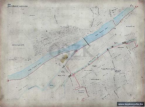 Kolozsvár szabad királyi város kataszteri térképe 1910-1914