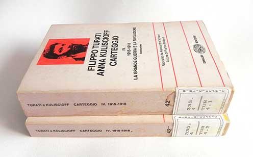 A Kuliscioff–Turati-levelezés háború alatti kötetei