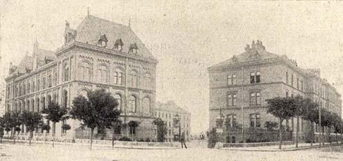 A vasúti ezred laktanyája Korneuburgban