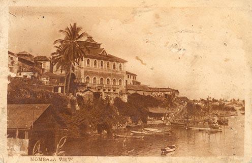 Mombasa kikötője a világháború idején