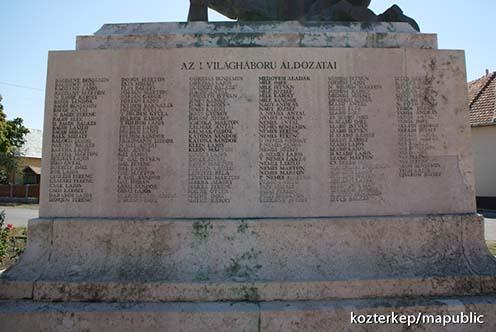 Földesi Károly neve is olvasható az emlékművön