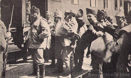 Przemyśl védőseregének hadifogságba esett katonái a sorsukat várják